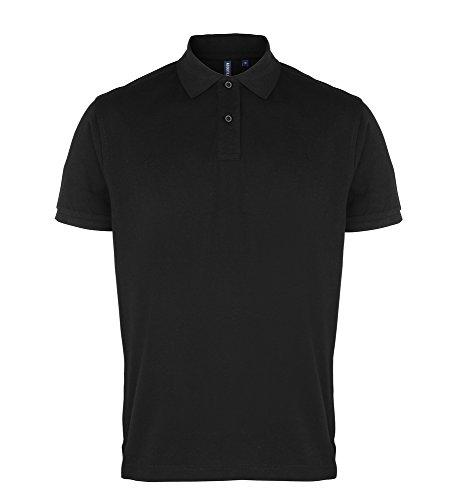 Asquith & Fox Men's Polo Black