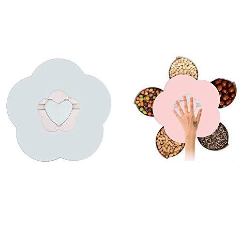Genießen Sie Das Leben Blüte Snack-Box, Blume-förmigen Rotierenden Candy Box Dish Snack-Tablett Kreativ Open Candy Dish