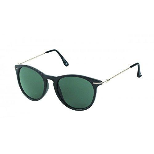 Chic-Net Sonnenbrille rund John Lennon Vintage Steg 400UV Bügel dünn getönt schwarz