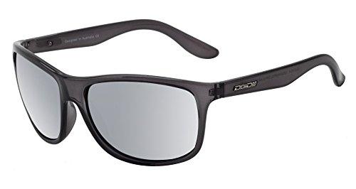 Dirty Dog Quench Erwachsene Herren Damen Wickeln Sonnenbrille In Kristall Schwarz/Silber Spiegel Polarisiert Objektive