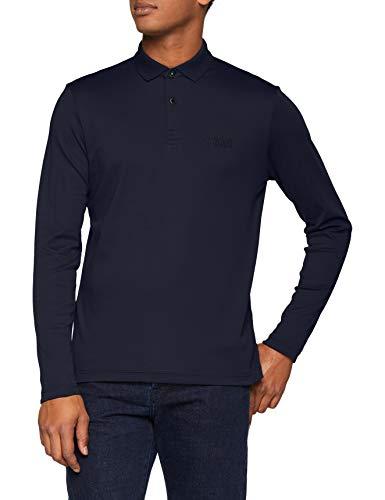 BOSS Herren Regular Fit Poloshirt Pirol, Blau (Navy 410), Large -