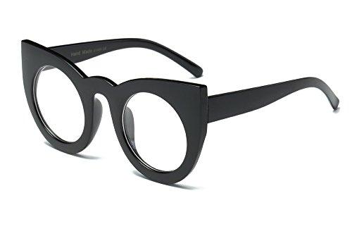 Whycat Heißer Verkauf Dicken Rahmen Neueste Mode Frauen Runde Cat Eye Sonnenbrille Hochwertige Gläser Sonnenbrille Damen Braun(Kaffee)