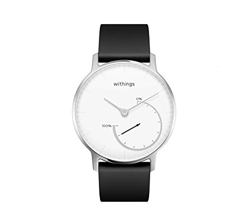 Withings Unisex Adult Steel - Fitnessuhr Armbanduhr, Weiß, 36 mm