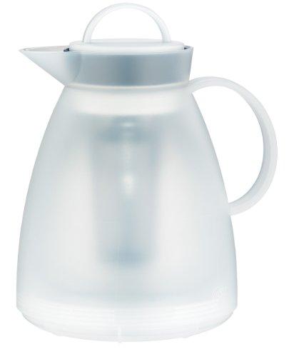 alfi 1935.011.100 Isolierkanne Dan Tea, Kunststoff transluzent weiß 1,0 l, 3 Stunden heiß, 6 Stunden kalt