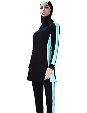 Pañal para baño musulmán Mujeres Niñas Traje de baño Muslim Swimwear Niñas Damas Modeste protectora completa Beachwear...