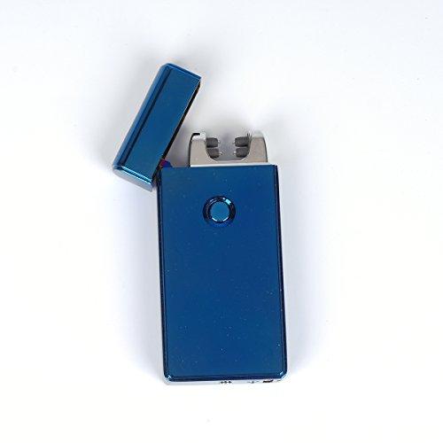 VOSO USB Elektronisches Feuerzeug Aufladbar Lichtbogen (Blau)