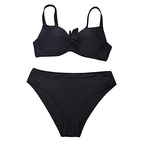 OHQ Bikini Set Bagno Donna Push Up Imbottito Sexy Due Pezzi Coordinati da Femminile Laccetti Brasiliano Costume da Donne Slip Trikini Mare Balneare Piscina