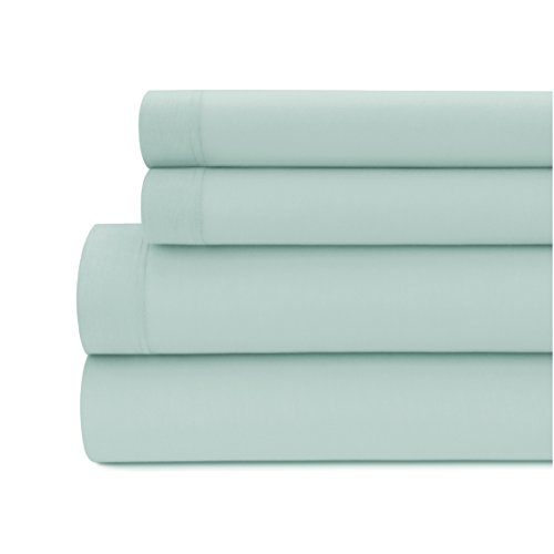 Briarwood Home 150GSM Solid Modal Jersey Deep Pocket Bed Sheet Set, 100% seidiges Modal Bettwäsche, Baumwolle, Blue Haze, Volle Größe (Volle Größe-jersey-bettwäsche)