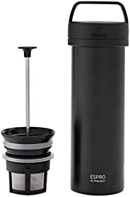 ESPRO - Macchina da caffè da viaggio Ultralight, con funzione termica, in acciaio INOX, da viaggio, 475 ml
