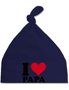 Up to Date Baby - I Love Papa - Baby Mütze mit einfachem Knoten als Geschenkidee