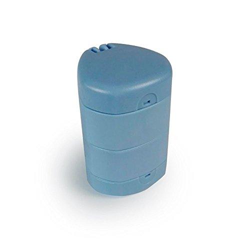 Pastillero, triturador y divisor de pastillas, 3 en 1, Azul, Mobiclinic