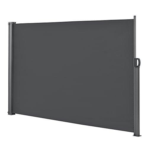 [pro.tec] Brise-Soleil Baldaquin Garde-Vue Pare-Soleil Métal et Polyester 160 x 300 cm Gris
