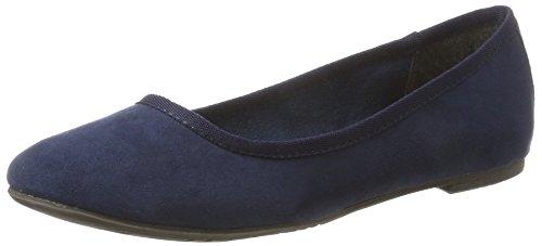 Tamaris Damen 22151 Geschlossene Ballerinas Blau (Navy)