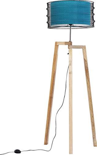 Kare Design Stehleuchte Wire Tripod, hochwertige Design Stehlampe, Wohnzimmerlampe, Leuchte für das Wohnzimmer, moderne Lampe, (H/B/T) 146x48x48cm [Energieklasse A] - Wachs Lampenschirm
