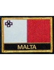 Malte Yantec Drapeau Patch avec nom du pays
