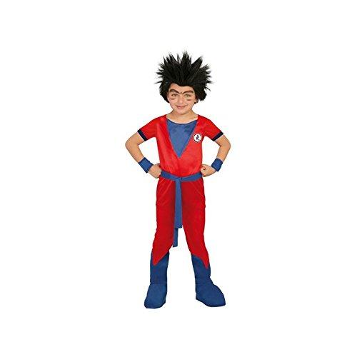 Guirca dragon_ball_z costume da guerriero combattente per bambino di 7-9 anni, colore blu e rosso, 7/9 (122/134), 82761