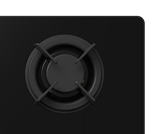 316XsTykjKL - Cookology Gas on Glass Hob 60cm Built-in & Cast Iron Pan Supports (Black)