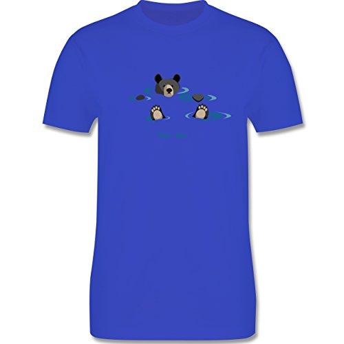 Typisch Männer - lustiges Bärenmotiv Chill Bro - Herren Premium T-Shirt Royalblau