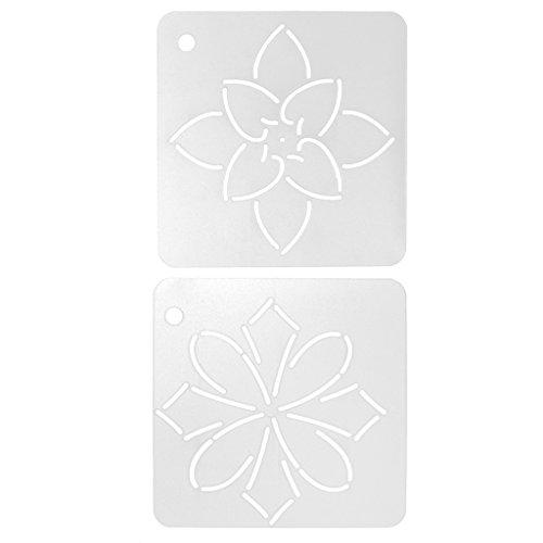 Gazechimp 2er Set Blume DIY Schablone Plastic Quilting Schablone Quilt Werkzeug für Patchwork Malerei (Malerei Stoff Quilten)