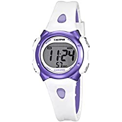 Calypso Girl's Digital Watch with LCD Dial Digital Display and Multicolour Plastic Strap K5609/2