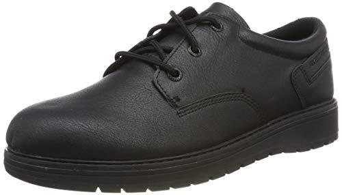 Skechers Gravlen, Zapatos de Cordones Oxford para Niños, Negro Black BBK, 38 EU
