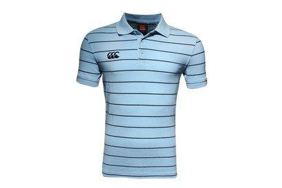 Canterbury CCC Waimak Stripe Rugby Polo Shirt, Herren, blau (Stripe Herren Polo-shirt Rugby)
