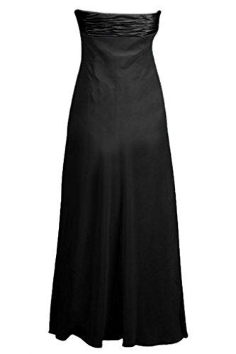 Sunvary in Chiffon, da donna, elegante, abiti da damigella d'onore, senza spalline Blue