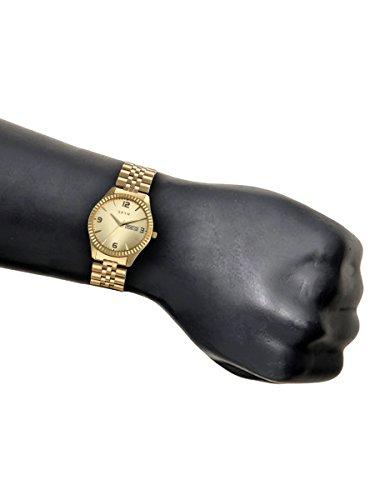 Spyn Premium golden casual wrist watch for Men