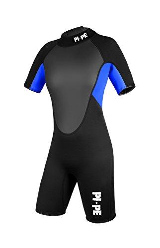 PI-PE Damen Neoprenanzug Pro Spring Short Sleeve, Blue, L