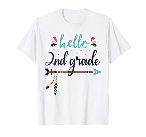 Hello 2nd Grade Lehrer zurück zum ersten Schultag Arrow T-Shirt (Zu Zurück Lehrer Für Schule-geschenke)