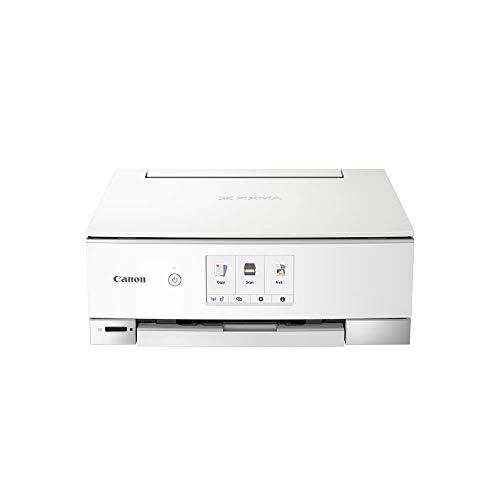 Canon PIXMA TS8351 Imprimante Multifonction Couleur avec Impression Couleur, numérisation, Copie, écran Tactile 10,9 cm, Wi-FI, Application d'impression, 4800 x 1200 PPP Blanc