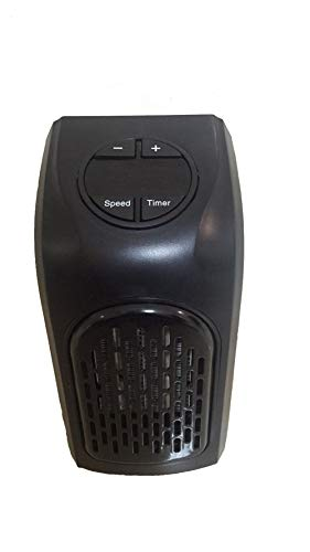 HZJA Keramik-Heizung, Mute Tragbare Steckdose Elektro-Ventilator Heizung Klimaanlage Temperatur Verstellbar Schwarz 16 * 10 * 8,5 cm -