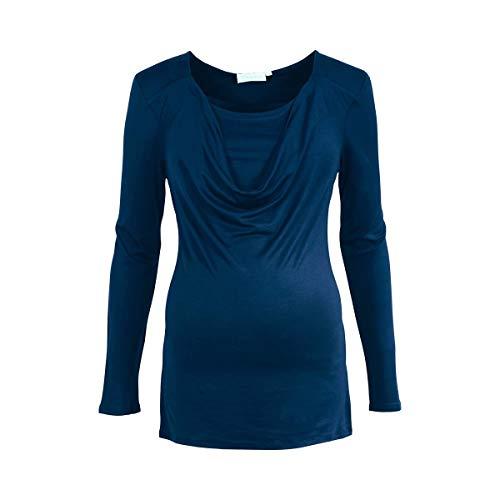 2HEARTS Umstands- und Still-Shirt Langarm We Love Basics/Umstandsmode Damen/Oberteil mit Stillfunktion