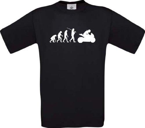 ShirtInStyle T-Shirt Evolution Motorrad Sport Fun spezial Edition, Farbe schwarz, Größe L (Ash Grey-t-shirt Evolution)