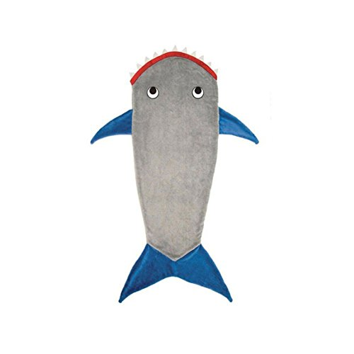 ungfrau Schwanz Decke - Super Weich und warm Bett Schlafsack Kostüm Stoff Meerjungfrau Schwanz Decke für Kinder Erwachsene, blau / grau, 110CM ()