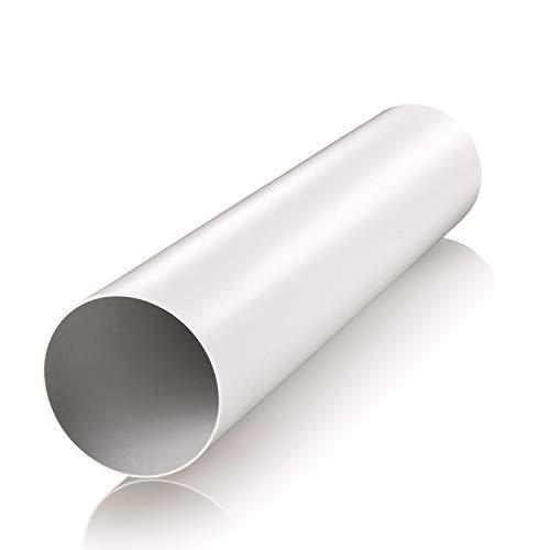 Lüftungsrohr Ø 150 mm Länge 0,5 m aus ABS-Kunststoff Rundrohr Rundkanal Abluft-Rohr Abluftkanal Dunstabzug Kanal Ø 15 cm und 50 cm lang Rundrohrsystem