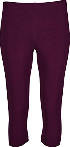 Golden Lutz® Damen Leggings, Capri-Länge (Bordeaux, Gr. S - 36/38), aus Bio-Baumwolle Bio-capri-leggings