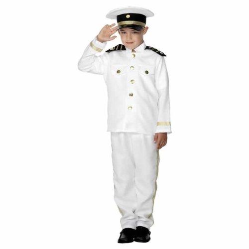 tüm Kapitän Captain Kinder Gr. 128-134 (M), 140-158 (L), Größe:M (Marine Kostüme Für Kinder)