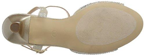 Pleaser Audrey 05, Sandales Femme Beige (Nude Shimmering Fabric)