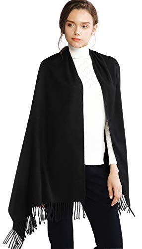 Adaptable Pullover Cloak With Fake Fur Collar And Trim Cloak Shawl Coat Women Spring Winter Knitted Cashmere Poncho Capes Shawl Cardigans Lustrous Surface Apparel Accessories