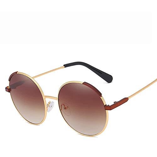 Sonnenbrillen Mode Sonnenbrillen Surround Classic Pilot Sonnenbrillen für Männer und Frauen mit UV400-Metallrahmen (Farbe : Rot, Größe : Casual Size)