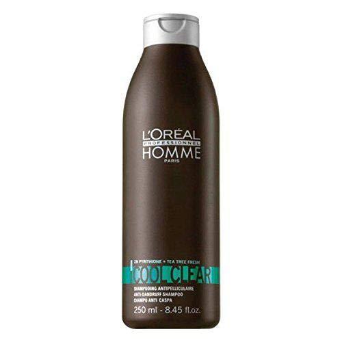 L\'Oréal Professionnel Homme Cool Clear Shampoo, 1er Pack, (1x 0,25 L)