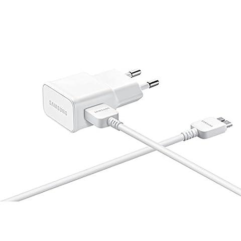 Samsung EPTA10E Chargeur Secteur pour Samsung Galaxy Note 3 USB 3.0 21 Broches Blanc 1 mètre
