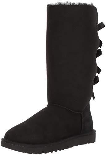 UGG Bailey Bow Tall Größe 39 EU Schwarz (Black) -