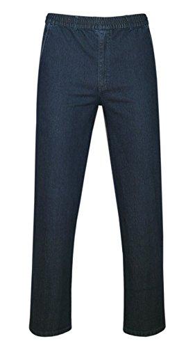 T-MODE Stretch Jeans Schlupfhose ohne Cargotaschen Herbst-Kollektion-Dunkelblau-XL