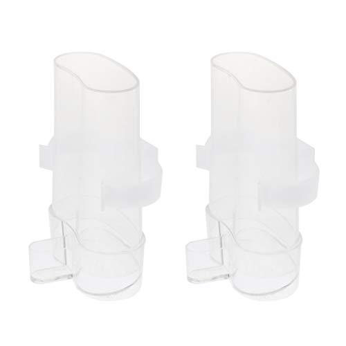 D DOLITY 2er-Pack Trinkflasche Wasserspender Wasserflasche Zum Aufhängen für Vogel/Papagei/Wellensittich/Nymphensittich/Finken