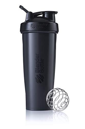 BlenderBottle Classic Loop Shaker | EiWeiß Shaker | Diät Shaker | Protein Shaker mit BlenderBall 940ml, Schwarz