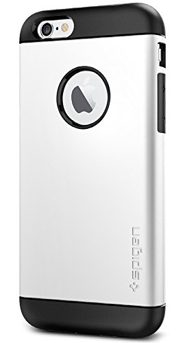Spigen Custodia Per Iphone 6 Slim Armor, 4.7 pollici, Bianco (Shimmery White)
