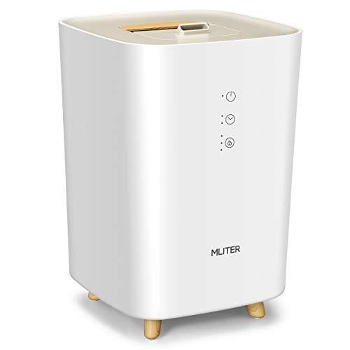 MLITER - Humidificador ultrasónico 2,5 l, difusores de perfumes, Temporizador, Funcionamiento silencioso con 3 Niveles Regulables de nebulización para casa