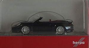 Herpa 38928 Porsche 911 Turbo Cabriolet, Color Negro metálico